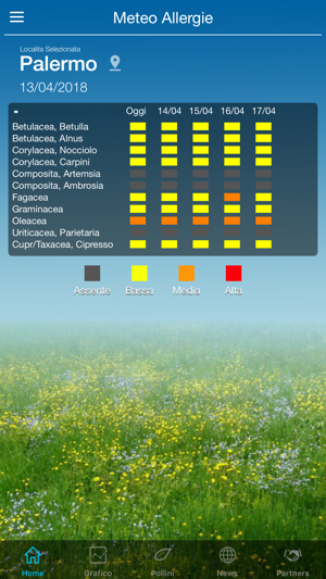 Meteo Allergie (ai pollini) Screenshot