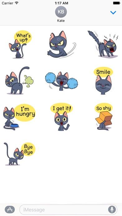 Lovely And Naughty Cat Sticker screenshot three