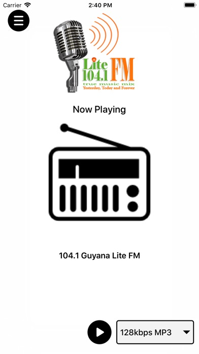 Screenshot of 104.1 Guyana Lite FM App