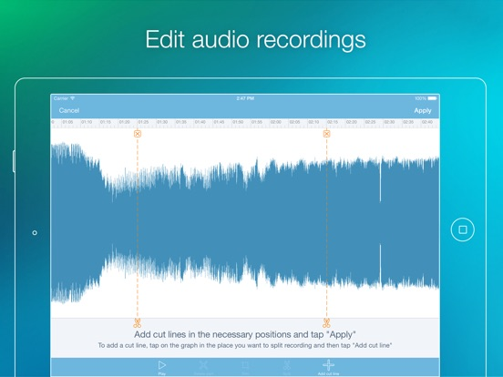eXtra Voice Recorder - Record, Add Notes & Photos Screenshot