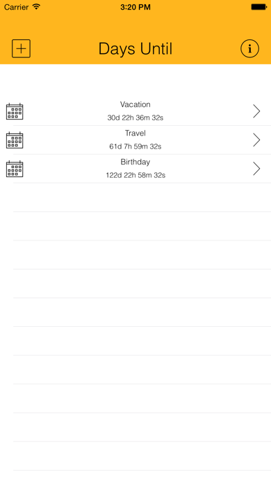 Days Until - Live CountdownScreenshot of 1