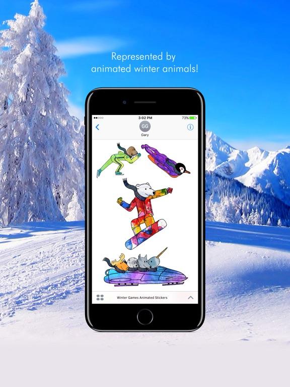 Winter Games Animated Stickers screenshot 5