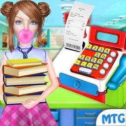 Book Store Cashier School Girl