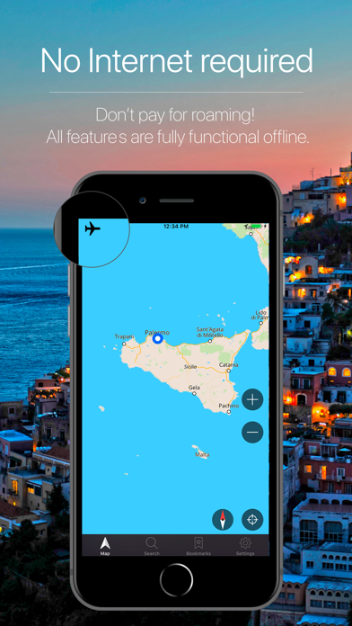 Screenshot for Sicily, Italy Navigation in Kazakhstan App Store