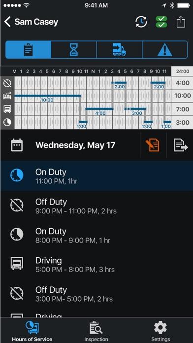 Garmin eLog screenshot 2