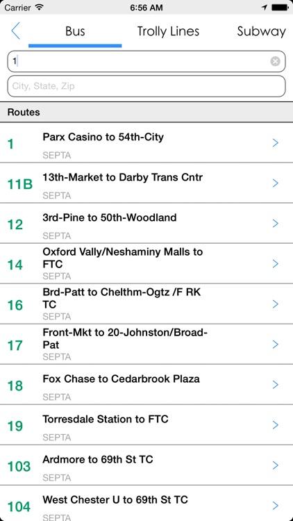 Transit Tracker - Philly screenshot-4