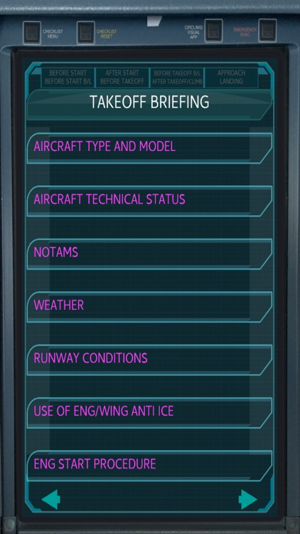 Airbus Pilot EFB checklist screenshot-0