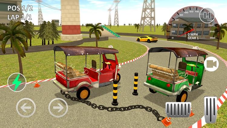 Tuk Tuk Chained Car Racing