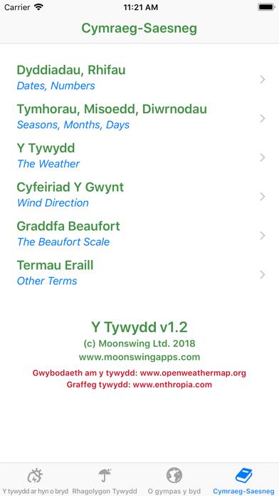 Y Tywydd - Weather in Welshのおすすめ画像4