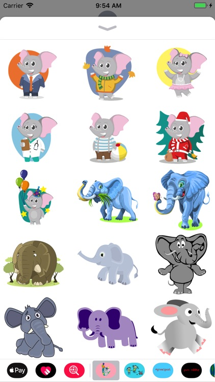 Fun Elephant Stickers