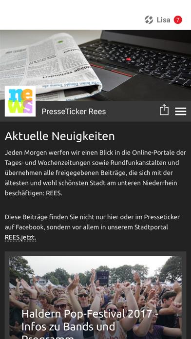 Presse-Ticker-Rees screenshot 1