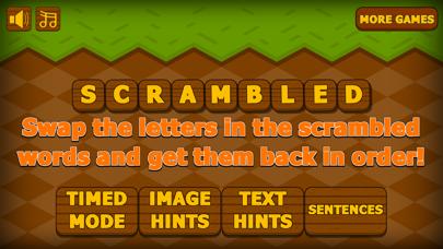 English Spelling Word Scramble