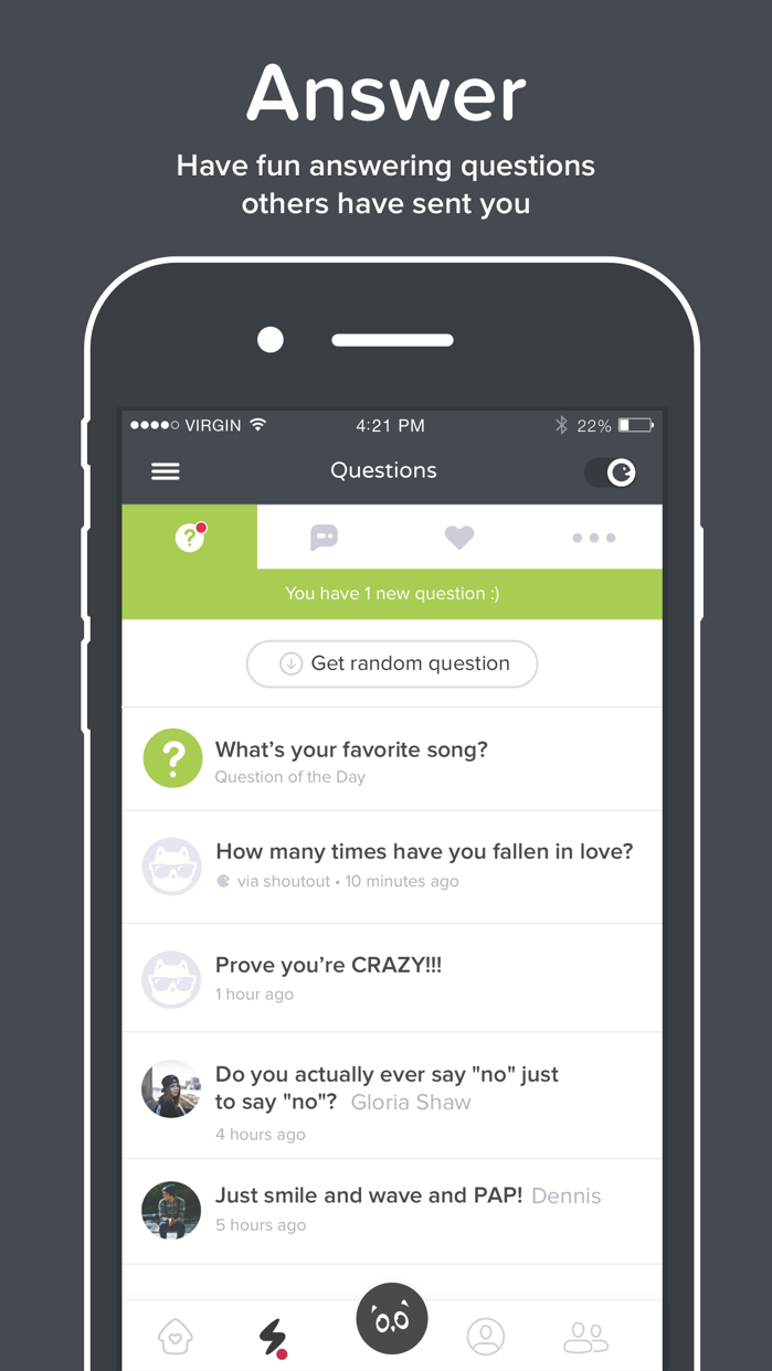 ASKfm: Ask Anonymous Questions Screenshot