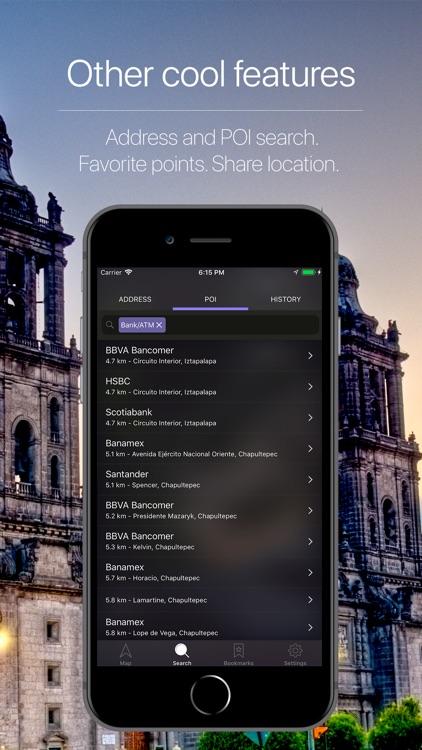 Mexico Offline Navigation screenshot-4