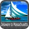 Delaware to Massachusetts GPS chart Navigator