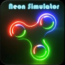 Neon Fidget Spinners (Simulator)