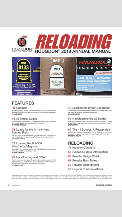 Hodgdon Reloading Manual - by Intermedia Outdoors