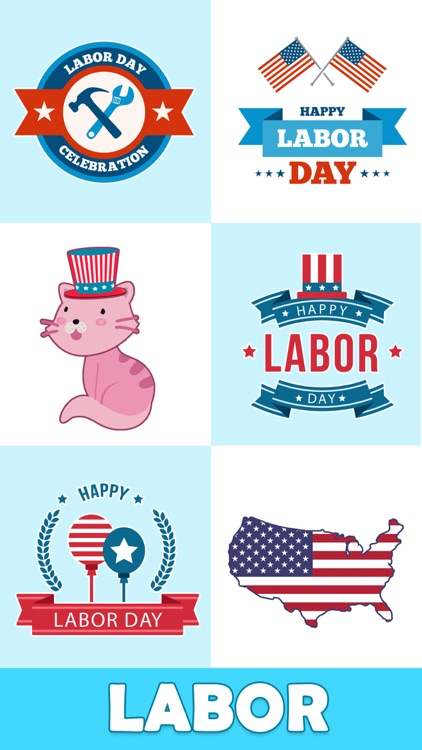 Animated Labor Day Stickers