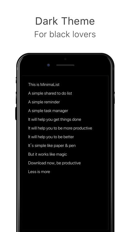 MinimaList - To do list & Task screenshot-4