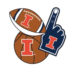 Illinois Fighting Illini Selfie Stickers