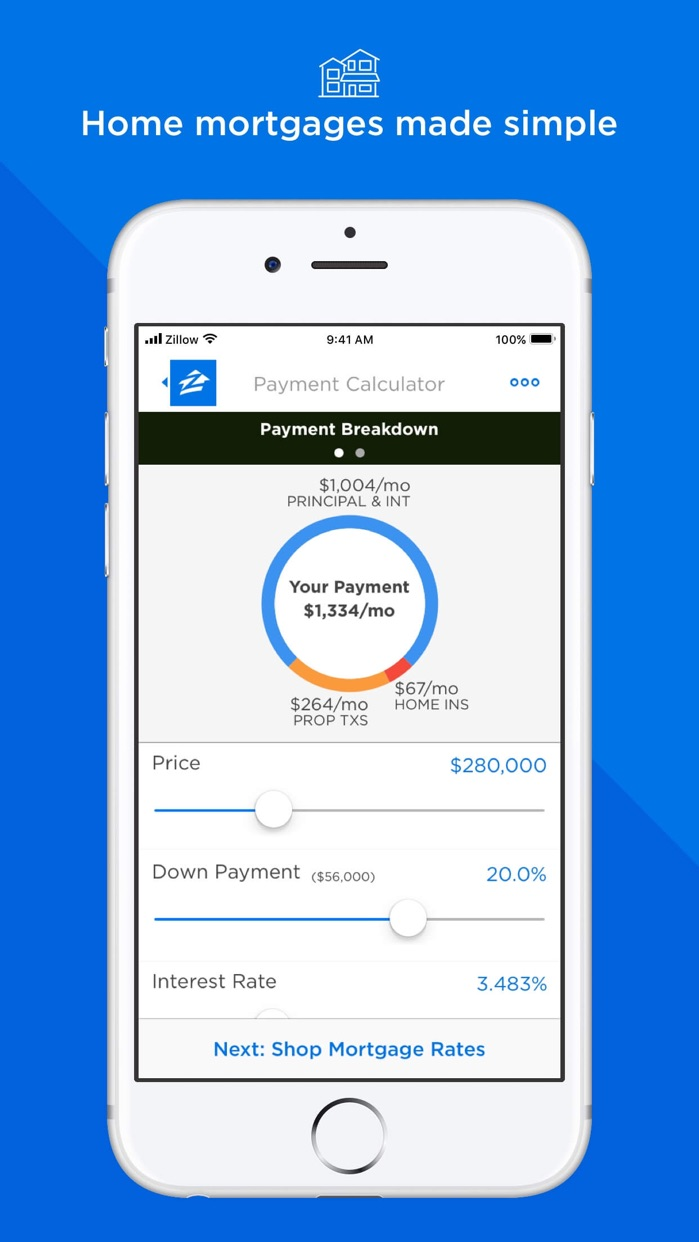 Mortgage by Zillow Screenshot
