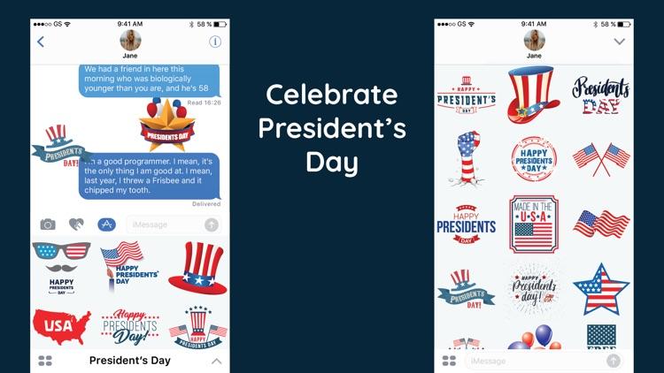 USA Presidents Day Sticker SMS