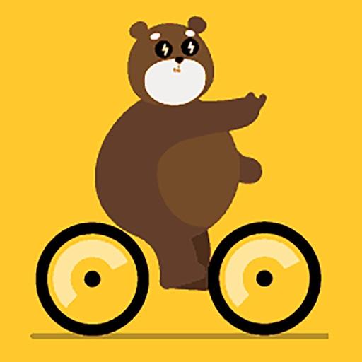 Cute Bear Mr.Huang Sticker