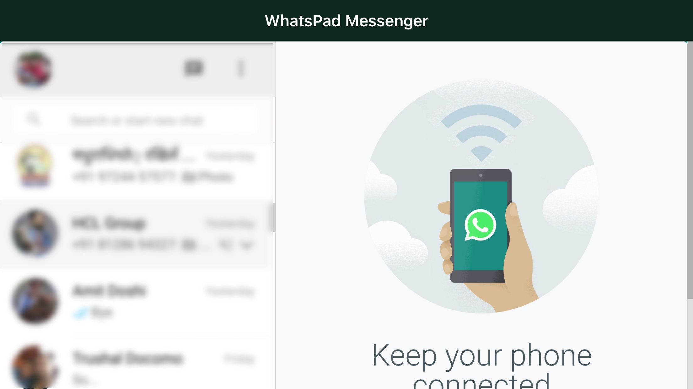Messenger for WhatsApp WebApp Screenshot