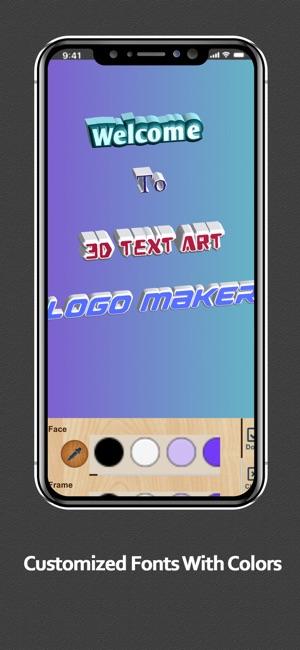 3D Text Art - Design Font Logo on the App Store