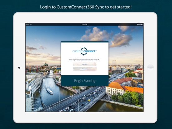 Image of CustomConnect360 Sync for iPad
