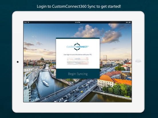 iPad Image of CustomConnect360 Sync