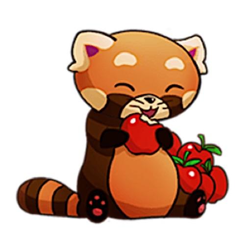 Cute Red Moon Panda Sticker