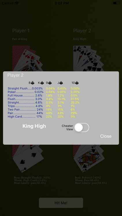 Odds4Poker - 7-Card Stud screenshot-3