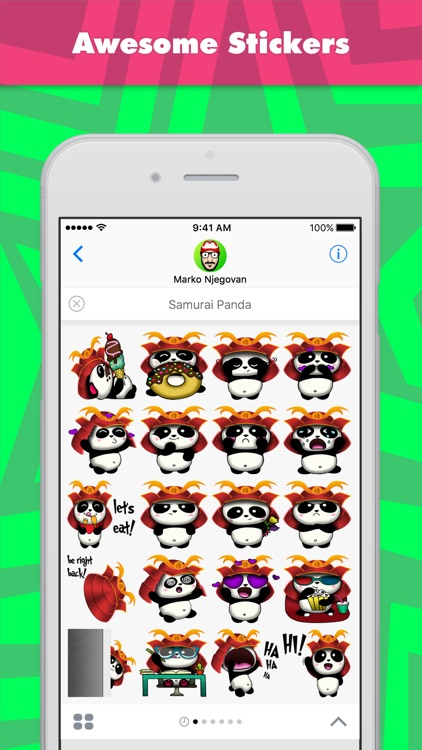 Samurai Panda stickers by CandyASS