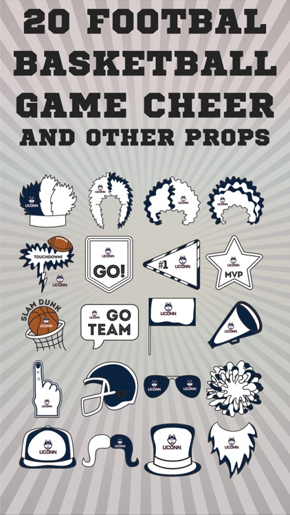 UConn Huskies Selfie Stickers screenshot-2