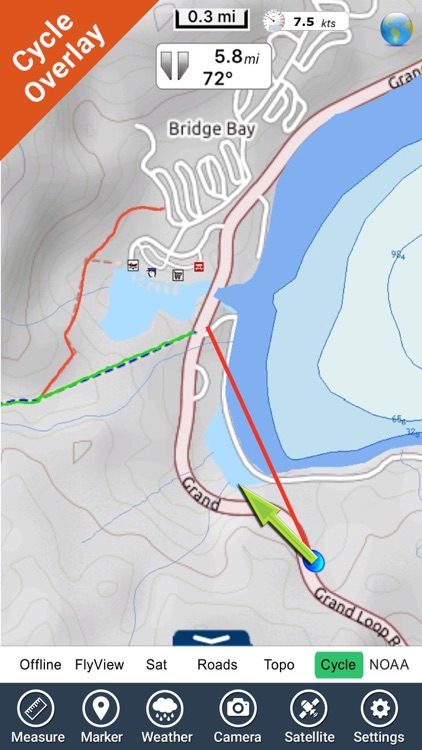Yellowstone National Park - GPS Map Navigator