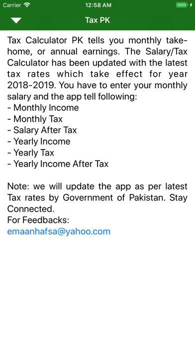 Income Tax Calculator PK By Hira Akram on the AppStore