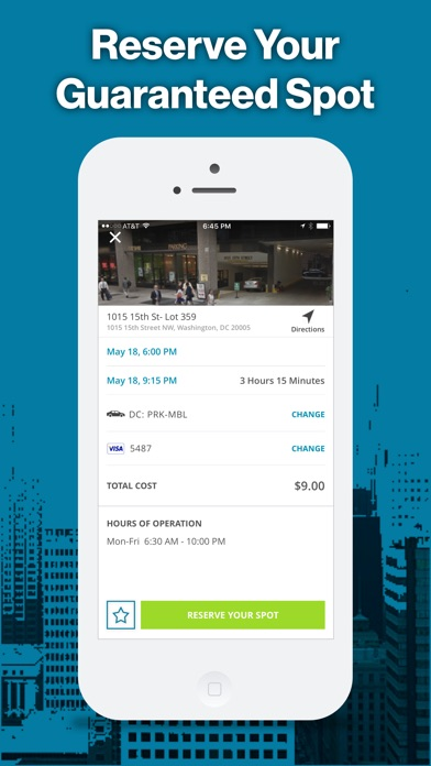Parkmobile review screenshots
