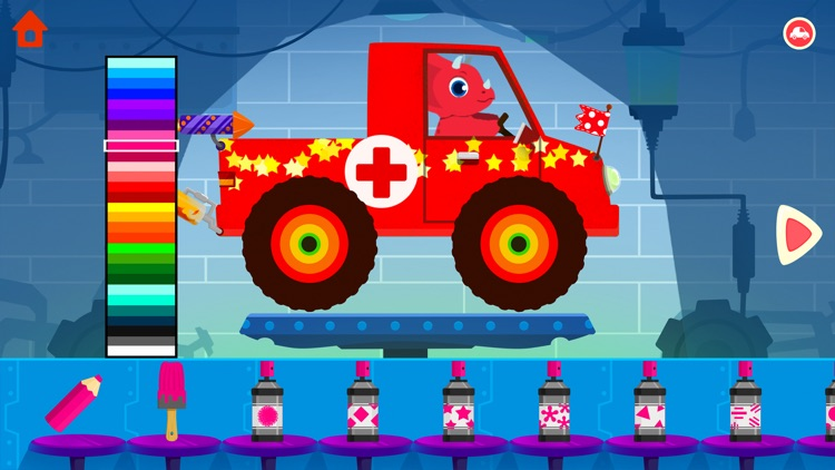 Dinosaur Car - Truck Games screenshot-0