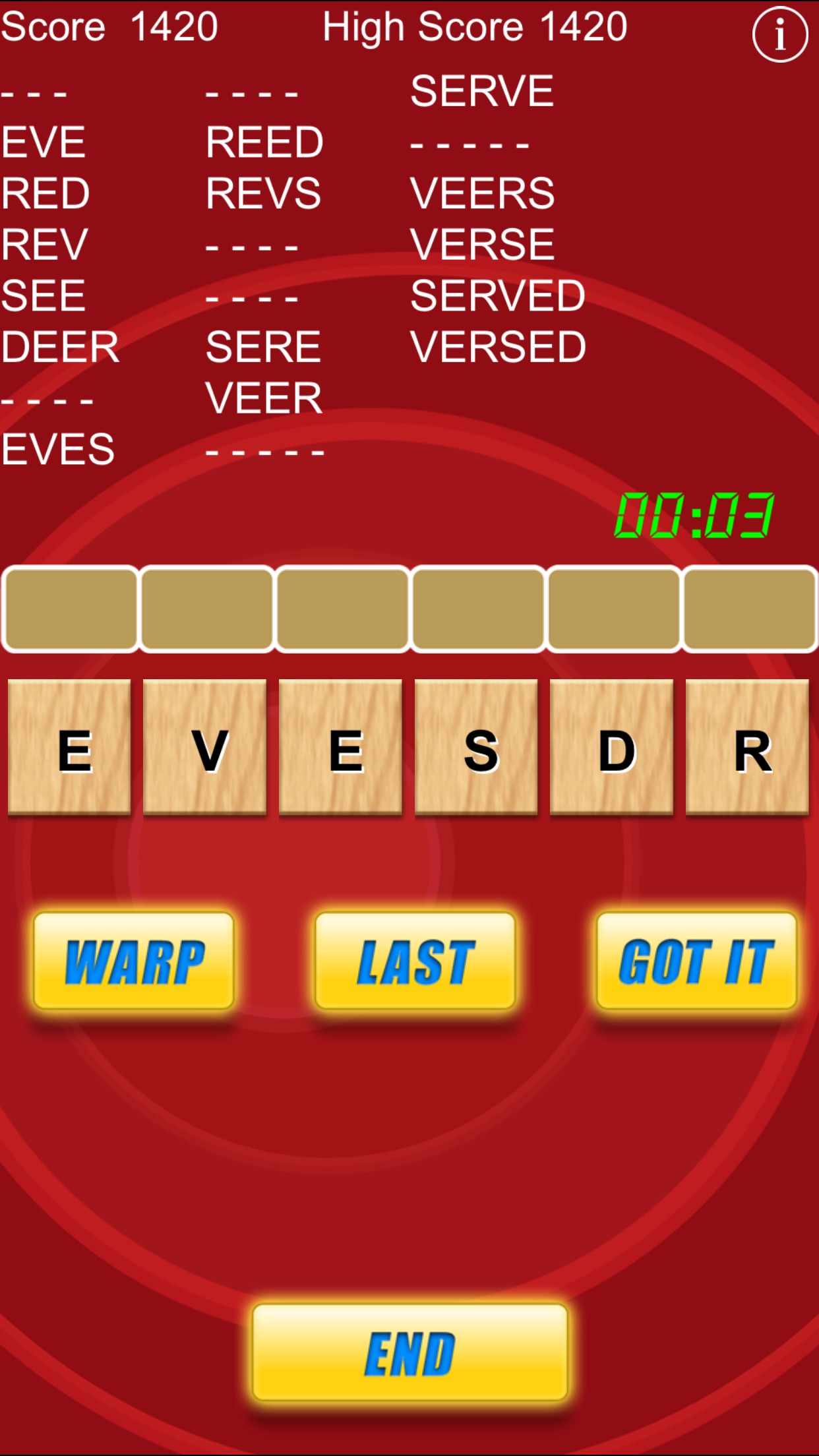 Word Warp - A Word Puzzle Game Screenshot