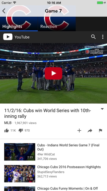 Chicago Cubbie Tracker screenshot-3