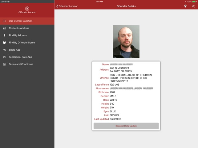 Free sex offender web site