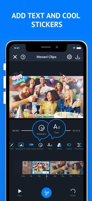 Video Maker Movavi Clips Screenshot