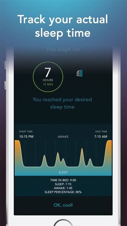 Sleep Science HQ: alarm clock screenshot-3