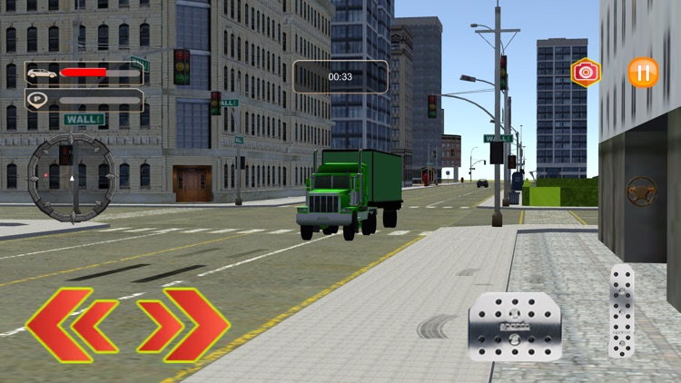 Highway Delivery Truck Driving