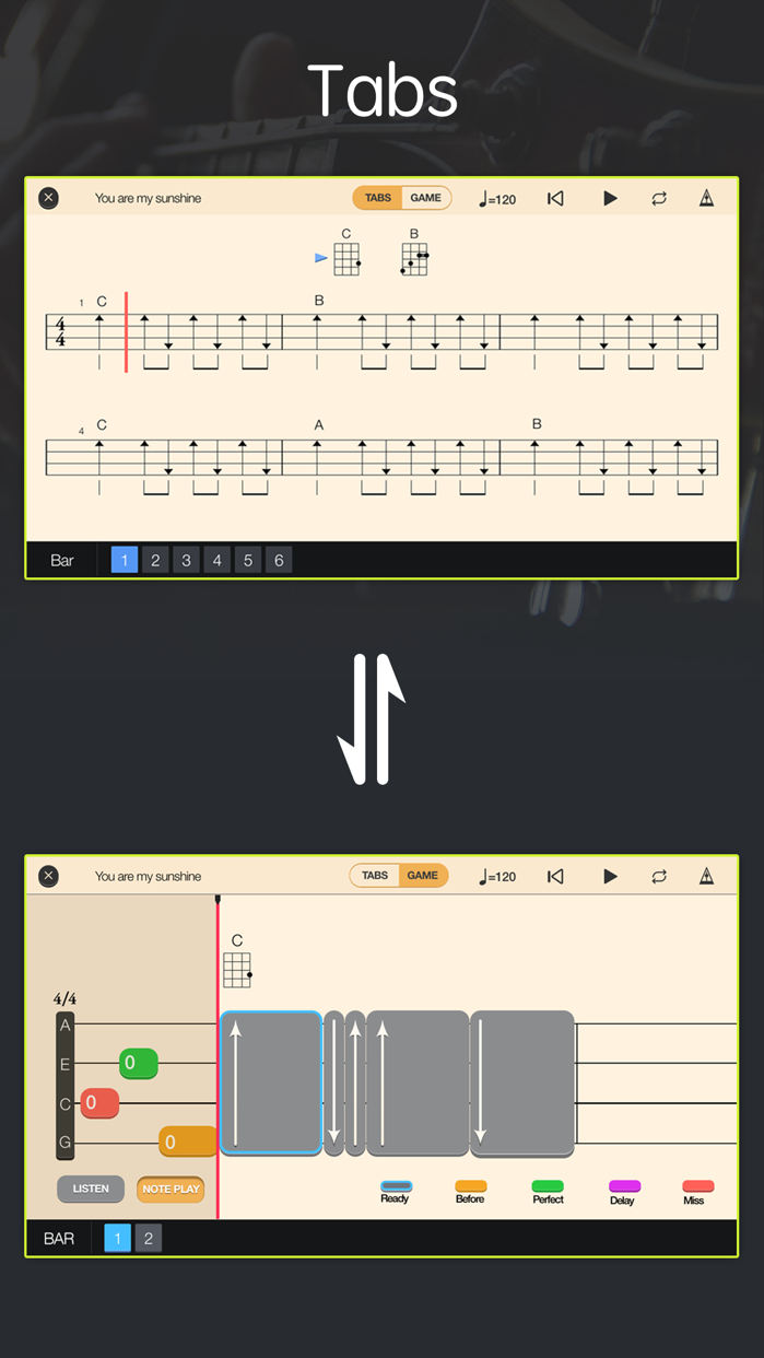 Tunefor Ukulele tuner & chords Screenshot