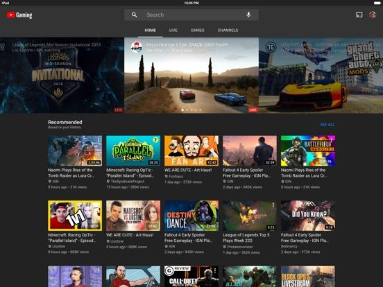 YouTube Gaming-ipad-0