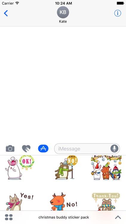 christmas buddy sticker pack screenshot-3