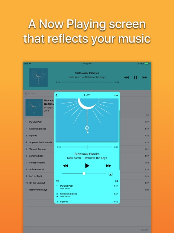 Screenshot #2 for Picky Music Player