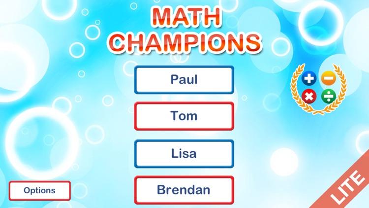 Math Champions lite screenshot-3